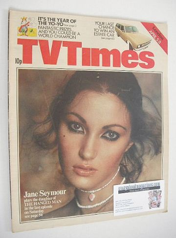 <!--1975-04-05-->TV Times magazine - Jane Seymour cover (5-11 April 1975)