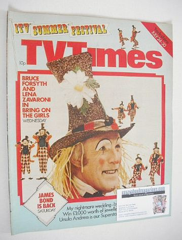 <!--1976-07-24-->TV Times magazine - Bruce Forsyth cover (24-30 July 1976)