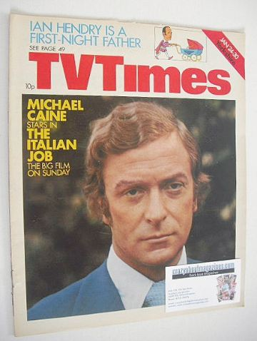 <!--1976-01-24-->TV Times magazine - Michael Caine cover (24-30 January 197