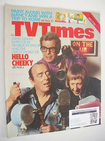 <!--1976-01-17-->TV Times magazine - Hello Cheeky cover (17-23 January 1976