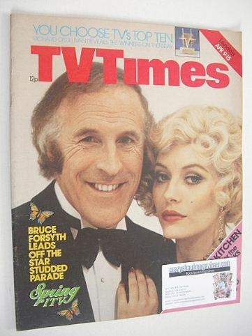 <!--1977-04-09-->TV Times magazine - Bruce Forsyth cover (9-15 April 1977)