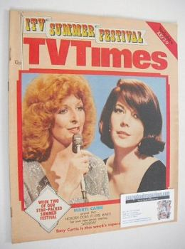 TV Times magazine - Marti Caine and Natalie Wood cover (3-9 July 1976)