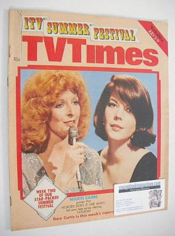 <!--1976-07-03-->TV Times magazine - Marti Caine and Natalie Wood cover (3-