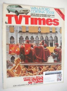 TV Times magazine - The Pageantry Of Venice cover (8-14 March 1975)