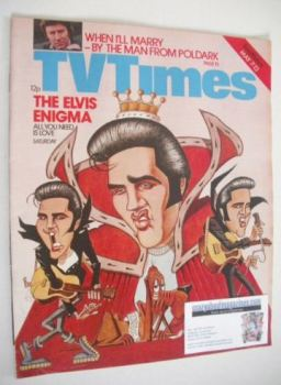 TV Times magazine - Elvis Presley cover (7-13 May 1977)