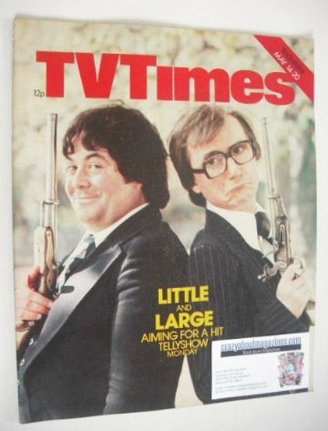 <!--1977-05-14-->TV Times magazine - Little and Large cover (14-20 May 1977