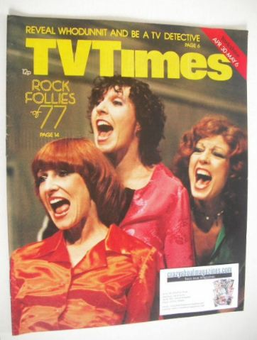 <!--1977-04-30-->TV Times magazine - Rock Follies cover (30 April - 6 May 1