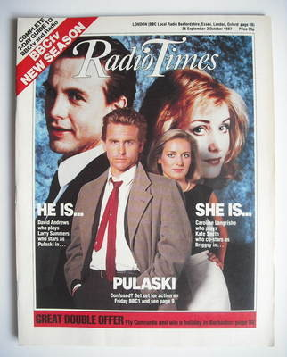 <!--1987-09-26-->Radio Times magazine - David Andrews and Caroline Langrish
