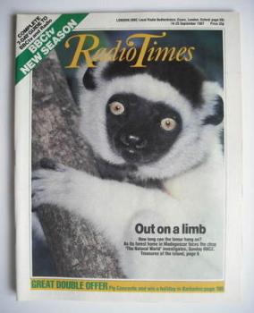 Radio Times magazine - Lemur cover (19-25 September 1987)