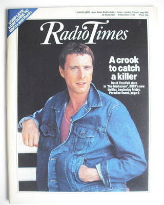 <!--1987-11-28-->Radio Times magazine - David Threlfall cover (28 November