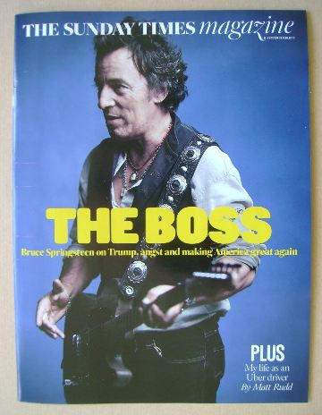 <!--2016-09-25-->The Sunday Times magazine - Bruce Springsteen cover (25 Se