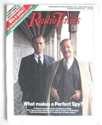 <!--1987-10-31-->Radio Times magazine - Peter Egan and Ray McAnally cover (