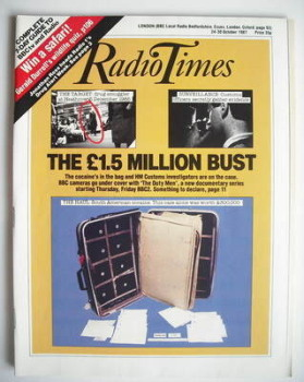 Radio Times magazine - The £1.5 Million Bust cover (24-30 October 1987)
