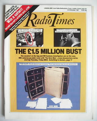 <!--1987-10-24-->Radio Times magazine - The £1.5 Million Bust cover (24-30