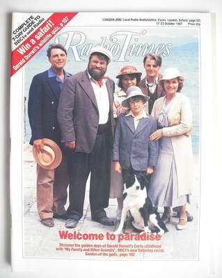<!--1987-10-17-->Radio Times magazine - My Family and Other Animals cover (