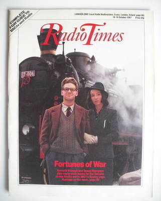 <!--1987-10-10-->Radio Times magazine - Kenneth Branagh and Emma Thompson c