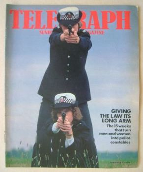 The Sunday Telegraph magazine - Giving The Law Its Long Arm cover (23 July 1978)