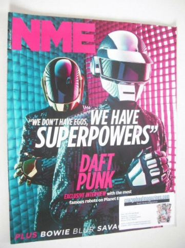 <!--2013-05-13-->NME magazine - Draft Punk cover (18 May 2013)