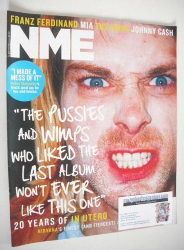 <!--2013-09-14-->NME magazine - Kurt Cobain cover (14 September 2013)