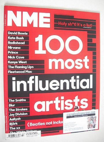 <!--2014-08-09-->NME magazine - 100 Most Influential Artists cover (9 Augus