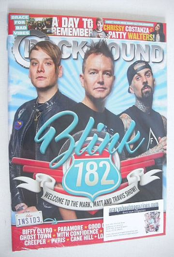<!--2016-08-->Rock Sound magazine - Blink 182 cover (August 2016)