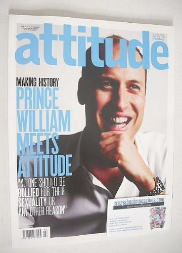 <!--2016-07-->Attitude magazine - Prince William cover (July 2016)
