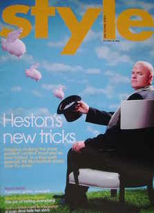 <!--2006-10-29-->Style magazine - Heston Blumenthal cover (29 October 2006)