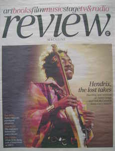 The Daily Telegraph Review newspaper supplement - 6 March 2010 - Jimi Hendr