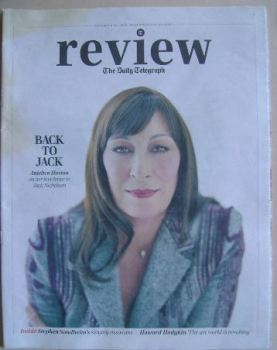 The Daily Telegraph Review newspaper supplement - 29 November 2014 - Anjelica Houston cover
