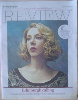The Daily Telegraph Review newspaper supplement - 1 August 2015 - Katherine Ryan cover