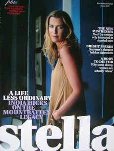 Stella magazine - India Hicks cover (22 July 2007)