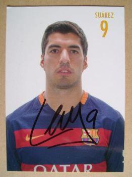Luis Suarez autograph