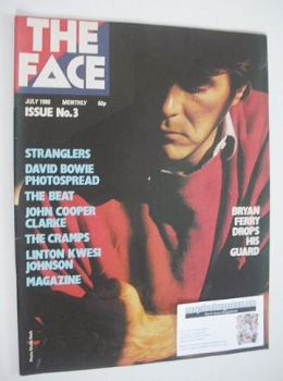 The Face magazine - Bryan Ferry cover (July 1980 - Issue 3)
