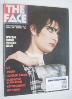 The Face magazine - Siouxsie Sioux cover (August 1980 - Issue 4)