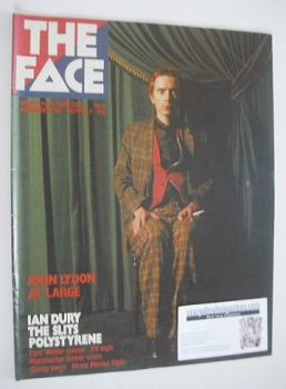 The Face magazine - John Lydon cover (December 1980 - Issue 8)