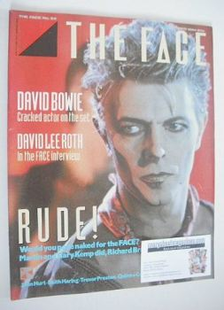 The Face magazine - David Bowie cover (October 1984 - Issue 54)