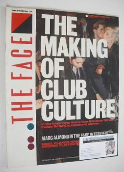 The Face magazine - The Making Of Club Culture cover (February 1983 - Issue 34)