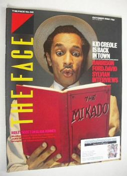 The Face magazine - Kid Creole cover (October 1982 - Issue 30)