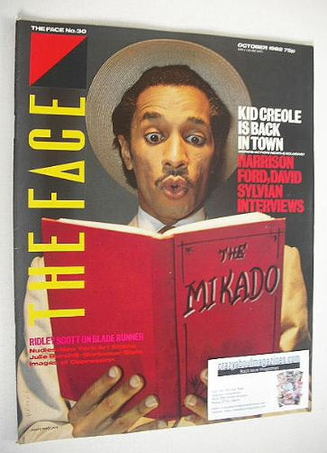 <!--1982-10-->The Face magazine - Kid Creole cover (October 1982 - Issue 30