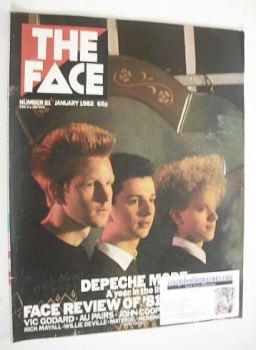 The Face magazine - Depeche Mode cover (January 1982 - Issue 21)