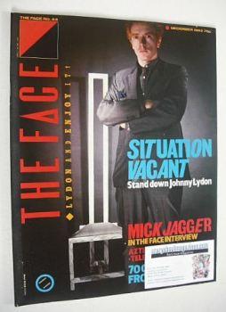 The Face magazine - John Lydon cover (December 1983 - Issue 44)