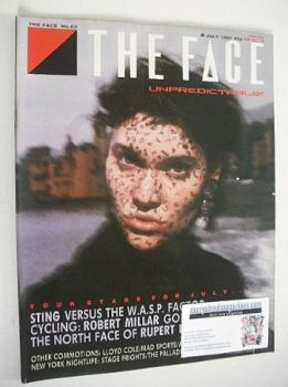 The Face magazine - Peggy O'Connor cover (July 1985 - Issue 63)