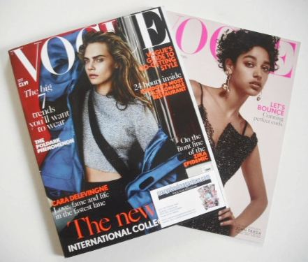 <!--2016-09-->British Vogue magazine - September 2016 - Cara Delevingne cov