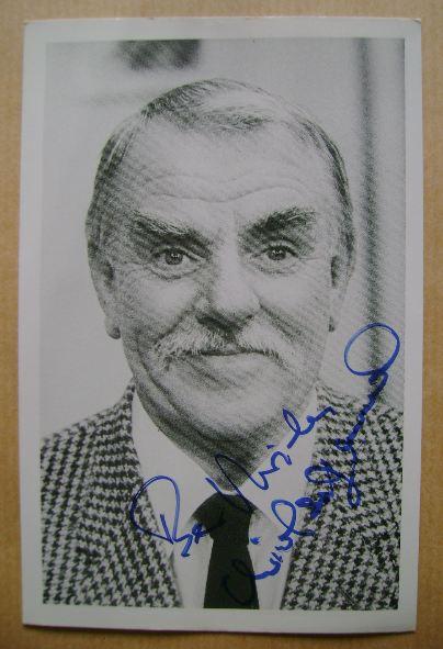 Windsor Davies autograph