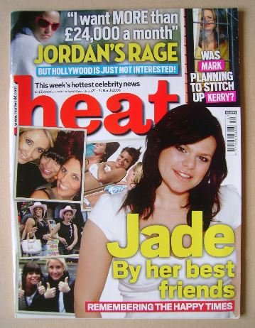 <!--2009-03-21-->Heat magazine - Jade Goody cover (21-27 March 2009 - Issue