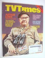 <!--1977-02-12-->TV Times magazine - Arthur Lowe cover (12-18 February 1977)
