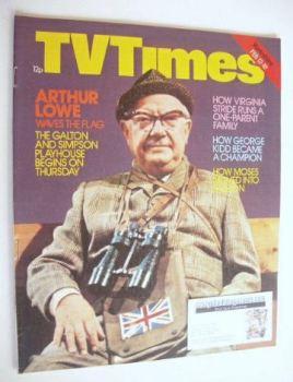 TV Times magazine - Arthur Lowe cover (12-18 February 1977)
