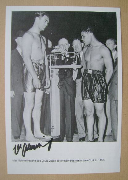 Max Schmeling autograph
