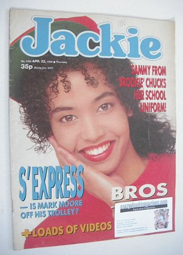 <!--1989-04-22-->Jackie magazine - 22 April 1989 (Issue 1320)