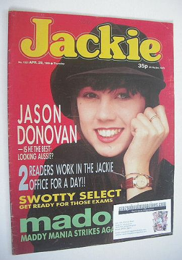 <!--1989-04-29-->Jackie magazine - 29 April 1989 (Issue 1321)